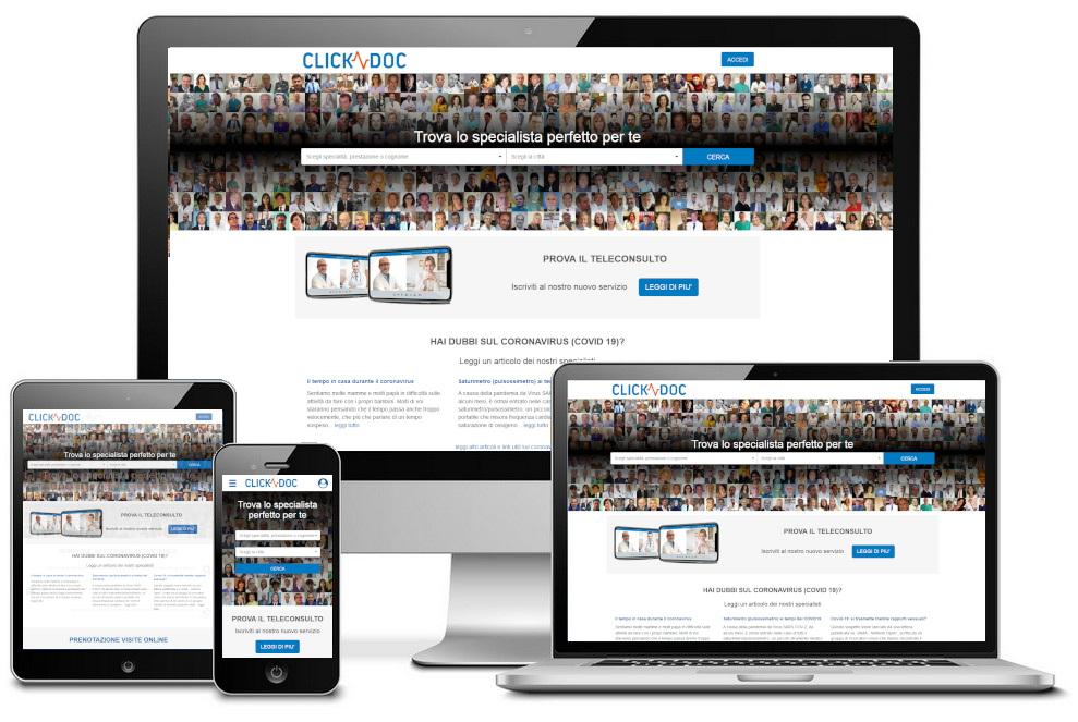 ClickDoc screenshots mobile and desktop